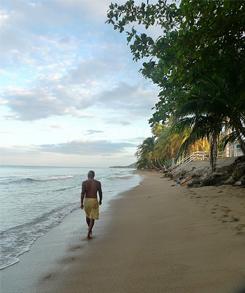Beach stroll in Rincon, Puerto Rico.