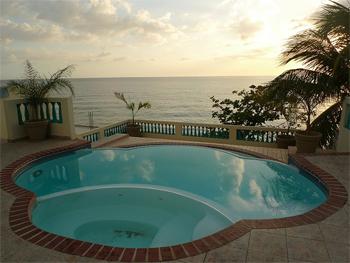 Pool at Sunset Paradise Villas, Rincon, Puerto Rico.
