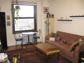 Stacey Wolf's apartment in New York City that she swapped for a Paris flat.