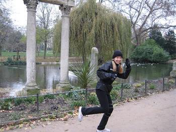 Running in the Parc Monceau.