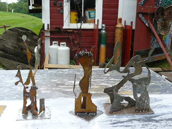 Some of the sculptures I made from other people's scraps.
