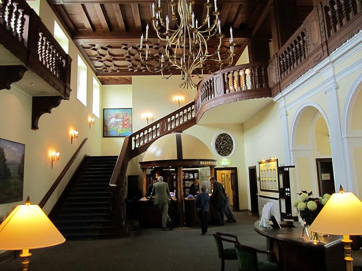 Lobby of Radisson Blu Schloss Fleesensee, Northern Germany.