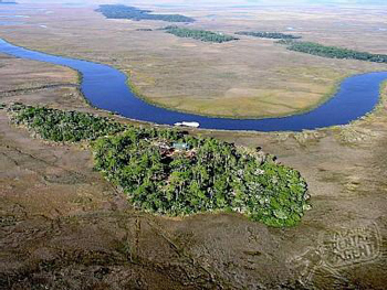 Aerial view of Eagle Island, Georgia.