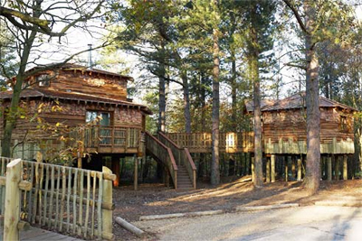 Exterior of Centre Parcs Longleat Forest, in England.