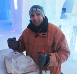 Will McGough ice carving.