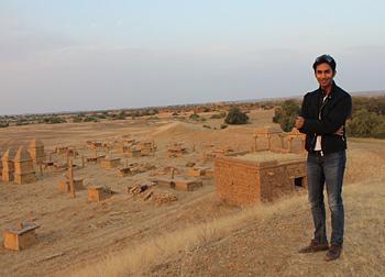 Manvendra Singh Shekhawat at Kuldhara near Jaisalmer
