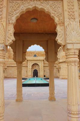 Courtyard at Suryagarh, Jaisalmer, Rajasthan