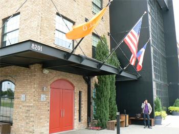 Entrance to Nylo Hotel, Plano Texas. photos by Max Hartshorne