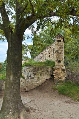 Upper Wall Ruins in Prague.