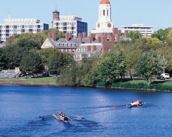 The Charles Hotel's namesake river, across from Boston, MA, where there are great bike trails along the river.
