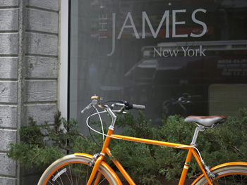 Your bike awaits at the James Hotel, in Chicago.
