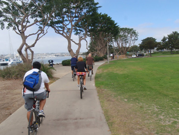 The Pearl Hotel in Point Loma San Diego: Bikes to explore a beautiful city.