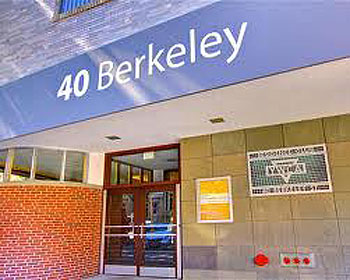 The front atrium at 40 Berkeley.