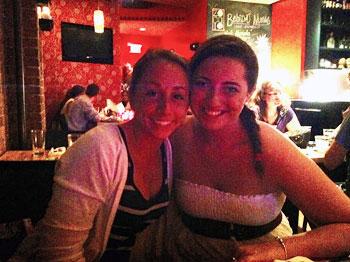 Kathrine and Emily, Zocalo Cucina Mexicana.