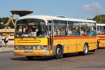 One of the funky buses that criss-cross Malta.