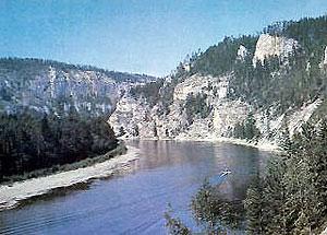The Lena River in winter