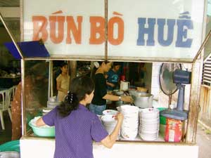Bon bo Hue is a popular beef soup