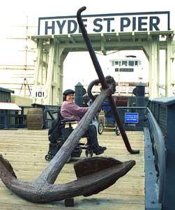 Exploring Hyde Street Pier.
