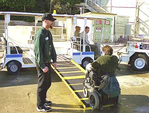 Accessible transportation on Alcatraz Island