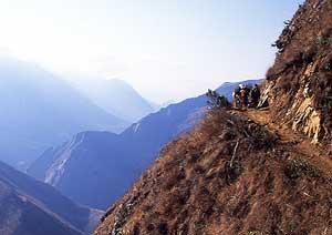 Mountain track through the Apurimac Canyon