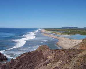 The Pacific coast of Mexico