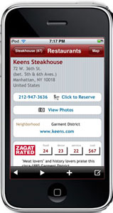 The popular Zagat guide has hit the iTunes app store