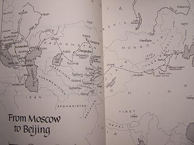 Map of Tayler's Route across the former Soviet Republic.