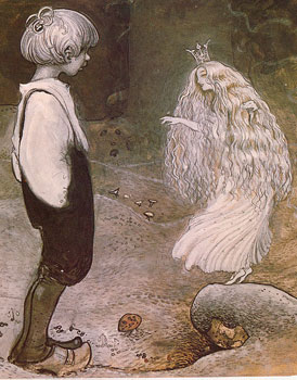 Painting of a fairy by John Bauer (1882-1918)