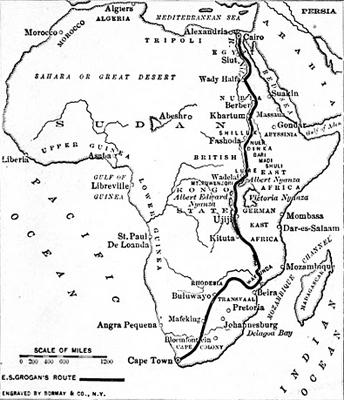 Ewart Grogan's route