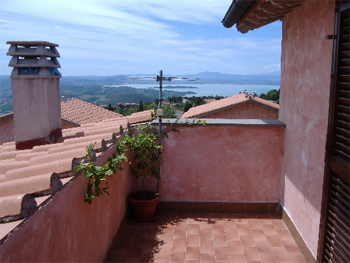 Balcony of the house in Umbria that Terry Bhola and his wife bought.