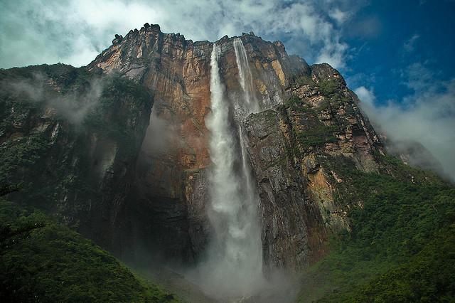 Angel Falls, Venezuela. photo by Enz108, from Flikr.