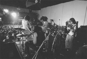 Led Zeppelin playing at the Boston Tea Party.