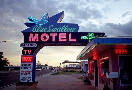 The Blue Swallow Hotel, Tucumcari, New Mexico.