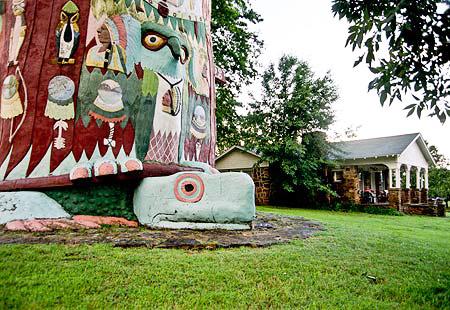 Totem Pole Park near Foyil, Oklahoma.