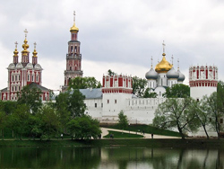 Magnificent Novodevichy Convent in Moscow.