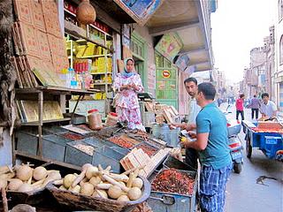 Street life in Kashgar.