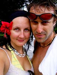 Author Torre DeRoche and her love, Ivan Nepomnaschy.