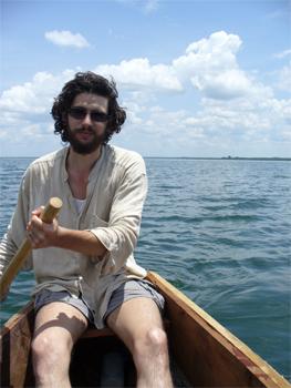 Dan Morrison paddling the Nile. photos by Dan Morrison.