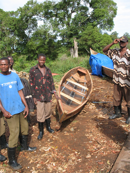 The new boat that was made for the author in the Congo before his departure.