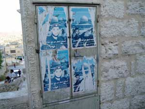 Martyr posters in Bethlehem