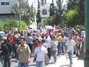 The protest in Bilin