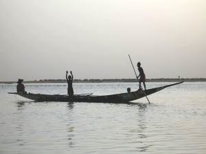 Boatmen on the Niger River