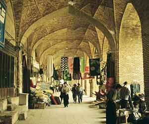 Outside the souk at Esfehan