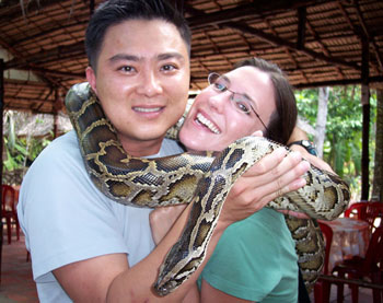 Sharing a boa in Vietnam