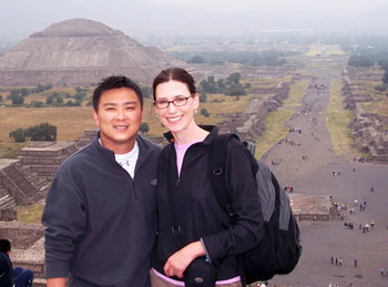Kelly Westhoff and Quang Nystrom in Teotihuacan, Mexico