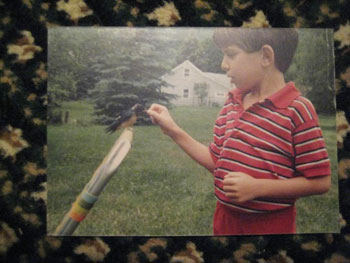 A childhood photo of me in the Catskill Mountains among the photos belonging to relatives I had never before met