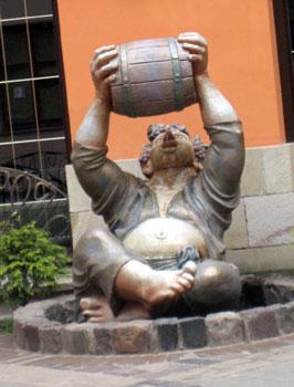 A statue in Lviv