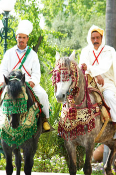 Riders in Fez, Morocco