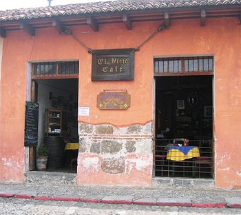 El Viejo Cafe in Antigua, Guatemala