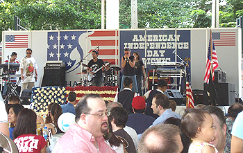 American hits like Proud Mary and such were played by the band.